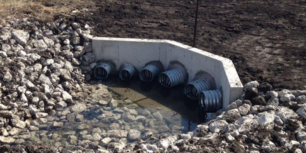 Headwall, Field Drainage Project | James Heidt Engineering